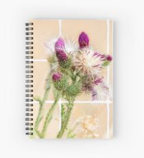 Colourful Thistle Mosaic  Spiral Notebook