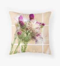 Colourful Thistle Mosaic  Throw Pillow