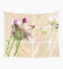 Colourful Thistle Mosaic  Wall Tapestry