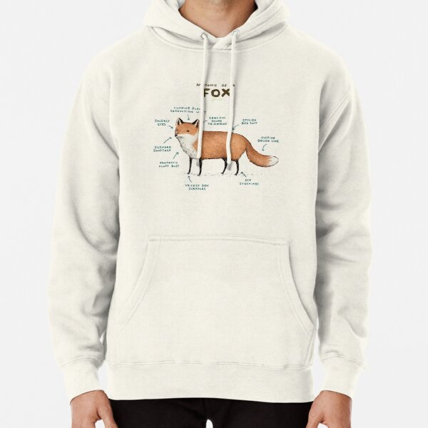 Anatomy of a Fox Pullover Hoodie