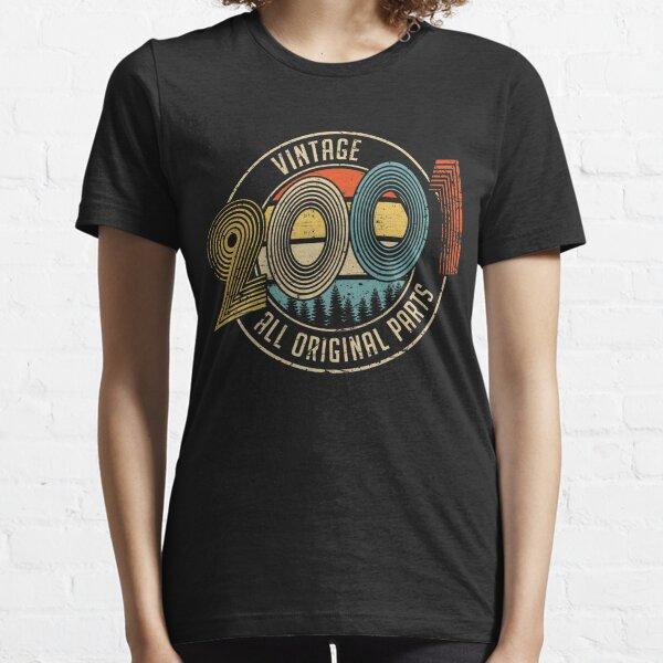Vintage 2001 todo original parte regalos de cumpleaños Camiseta esencial