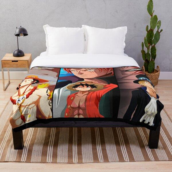 One Piece 3 Pirates Throw Blanket