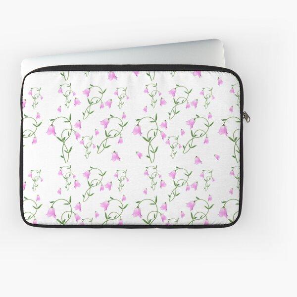 Nordic Wildflower Linnea Twinflower Pretty Pink Flowers floral Laptop Sleeve