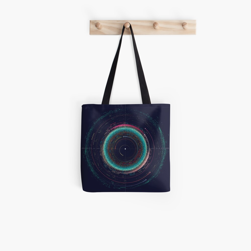 An Asteroid Map of the Solar System Tote Bag