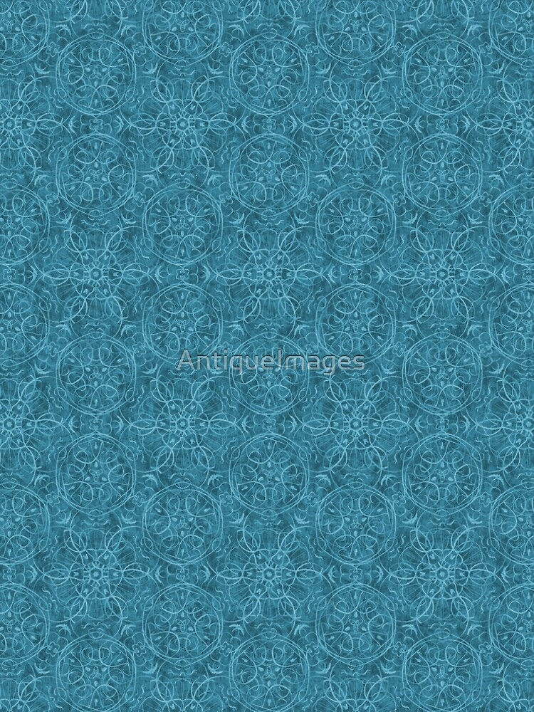 Moroccan Teal Green Textured Pattern by AntiqueImages