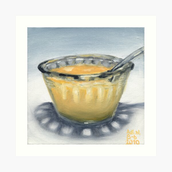 Peach Yogurt Art Print