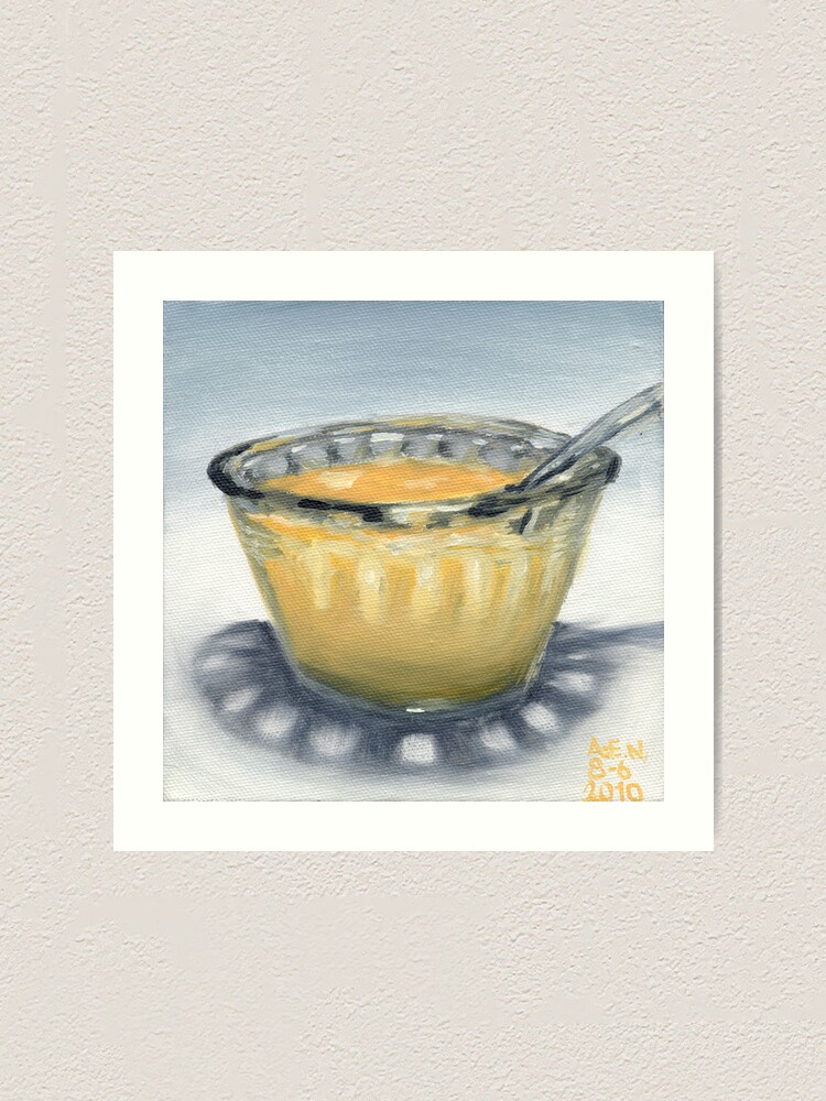 Alternate view of Peach Yogurt Art Print