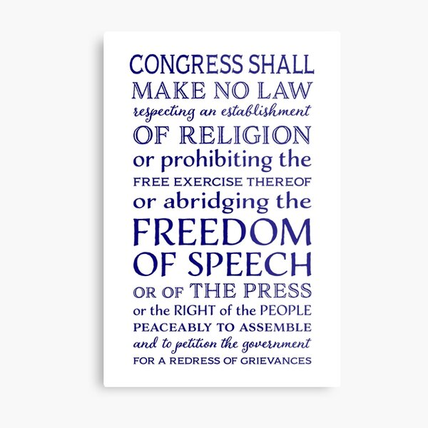 Defend Freedom of the Press Metal Print