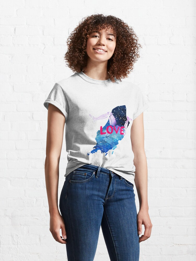 Alternate view of Love the Isle of Man with 3 legs of Man Classic T-Shirt