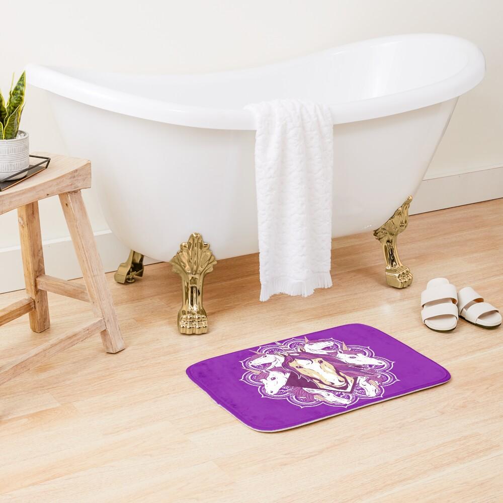 Unicorn Mandala Bath Mat