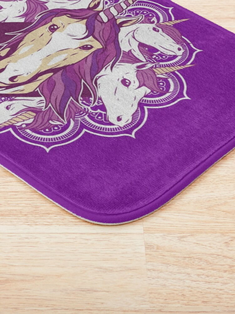 Alternate view of Unicorn Mandala Bath Mat