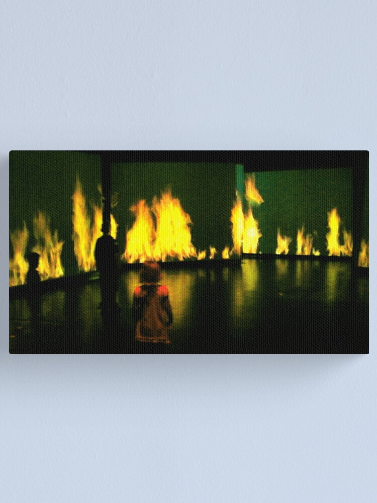 Alternate view of Wall of Fire Canvas Print