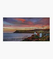 Dusk at Robin Hoods Bay Photographic Print