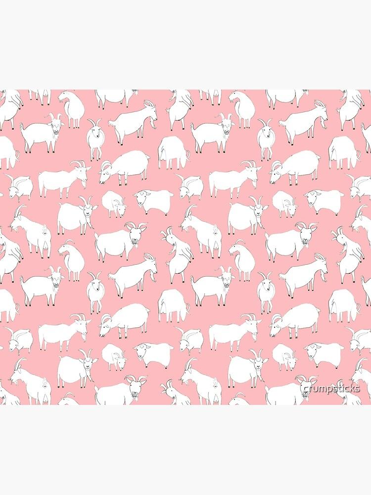 Goats Playing – Pink by crumpsticks