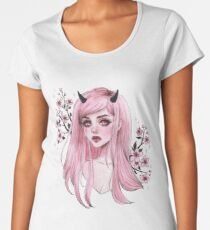 Sakura oni Premium Rundhals-Shirt