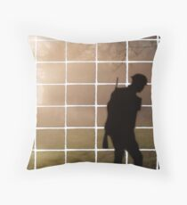 Remembrance Tribute - Soldier -  Going Down of the Sun Throw Pillow