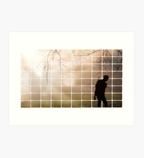 Remembrance Tribute - Soldier -  Going Down of the Sun Art Print