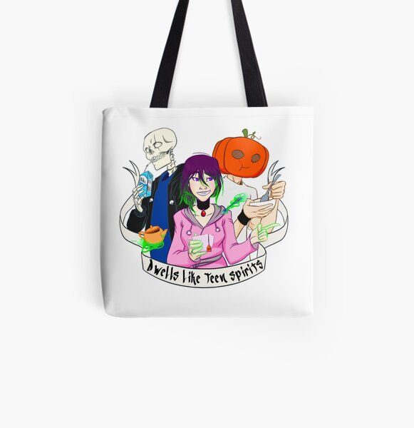 Tote bag Dwells like Teen Spirits - Chill mode Tote bag doublé
