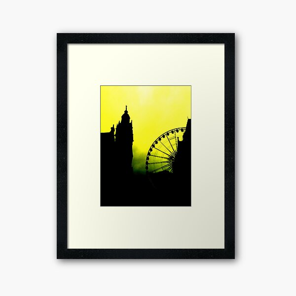 Sheffield Wheel and Town Hall Framed Art Print