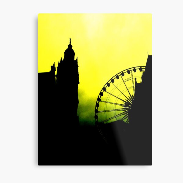 Sheffield Wheel and Town Hall Metal Print