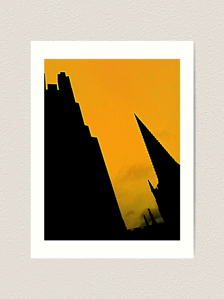 Alternate view of Sheffield Cathedral Spire Art Print