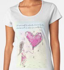 Inspirational Rumi Quote Premium Scoop T-Shirt