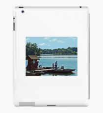 Going for a boat ride on a Sunday morning iPad Case/Skin