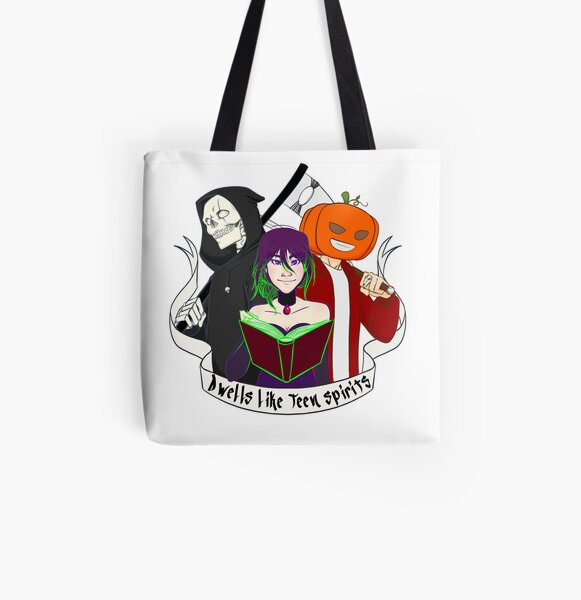Tote bag Dwells like Teen Spirits - Fight Mode Tote bag doublé