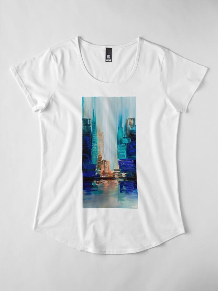 Alternative Ansicht von Lichter der Stadt Premium Rundhals-Shirt