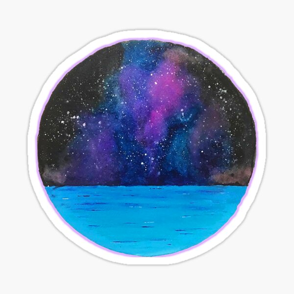 Ocean and Galaxy Sticker