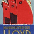 NDL, new ships from Norddeutscher Lloyd, 1929  by edsimoneit