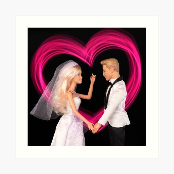 His 'N' Hers Deaf Doll Wedding Art Print