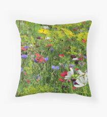 Wildflowers photo Throw Pillow