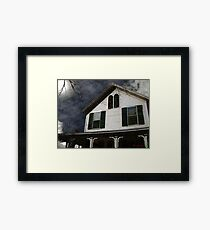 Snowstorm In from the Sound Framed Print