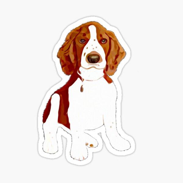 Welsh Springer Spaniel Puppy Art Sticker