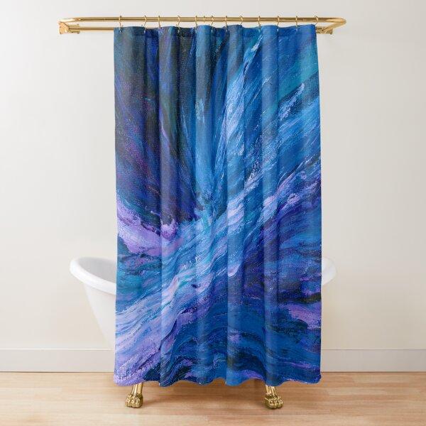 Apex, Abstract Landscape Art by Courtney Hatcher Shower Curtain