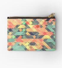 Abstract Geometry Zipper Pouch