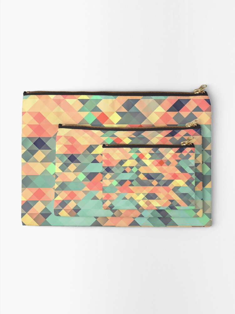 Alternate view of Abstract Geometry Zipper Pouch