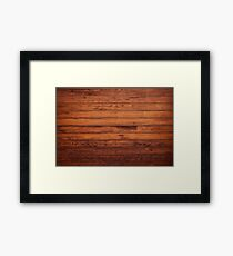 Wooden Boards - Realistic Elements Framed Print