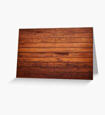 Wooden Boards - Realistic Elements Greeting Card