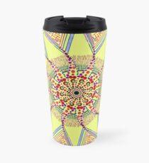 Sunflower Star  Mandala Travel Mug