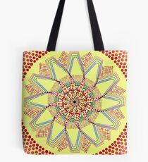 Sunflower Star  Mandala Tote Bag