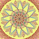 Sunflower Star  Mandala by tqueen