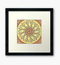 Sunflower Star  Mandala Framed Print
