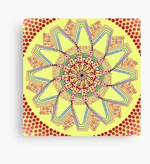 Sunflower Star  Mandala Canvas Print