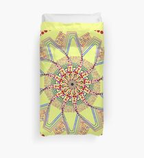 Sunflower Star  Mandala Duvet Cover