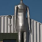 Alien in front of the International UFO Museum by Henry Plumley