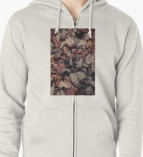 Dried Autumn Leaves - HD Nature Zipped Hoodie