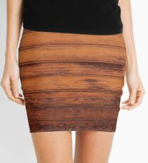Wooden Boards - Realistic Elements Mini Skirt