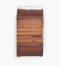 Wooden Boards - Realistic Elements Duvet Cover